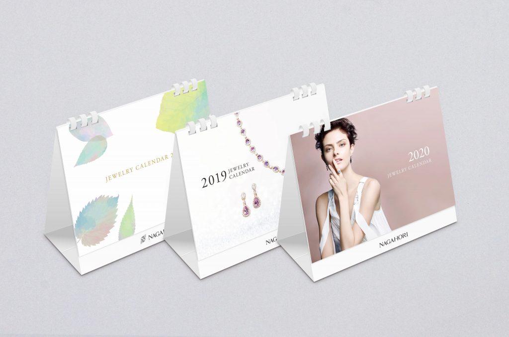 企業オリジナル卓上カレンダーの制作事例(デザイン・印刷・加工)